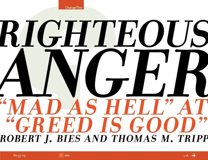 Righteous Anger: