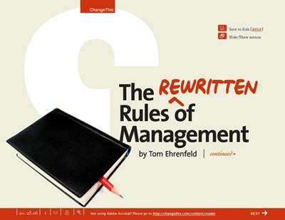 The Rewritten Rules of Management