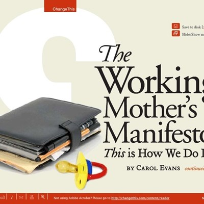 The Working Mother's Manifesto: This is How We Do It