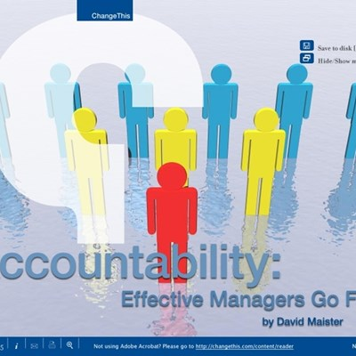 Accountability: Effective Managers Go First