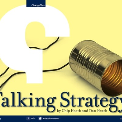 Talking Strategy: Three Straightforward Ways to Make Your Strategy Stick