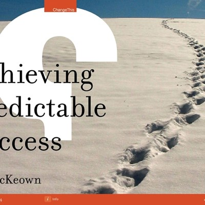 Achieving Predictable Success