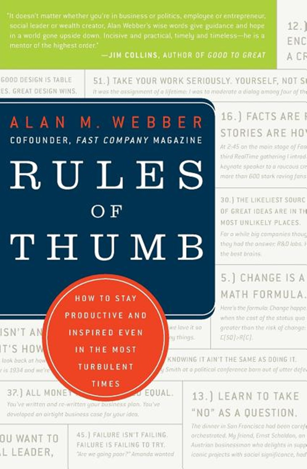 Rules of Thumb How to Stay Productive and Inspired Even in the Most Turbulent Times