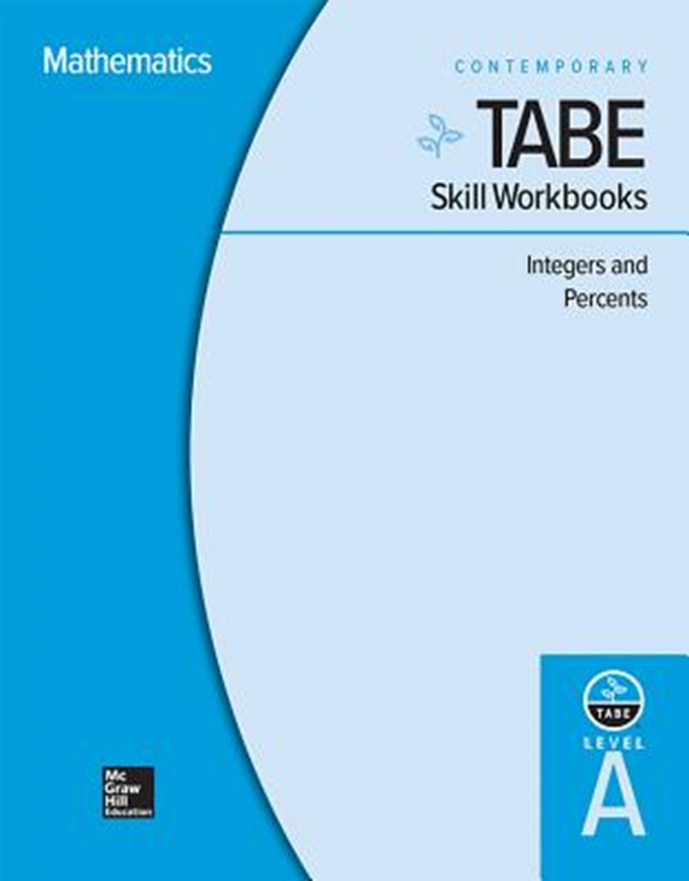 Tabe Skill Workbooks Level A Integers and Percents - 10 Pack