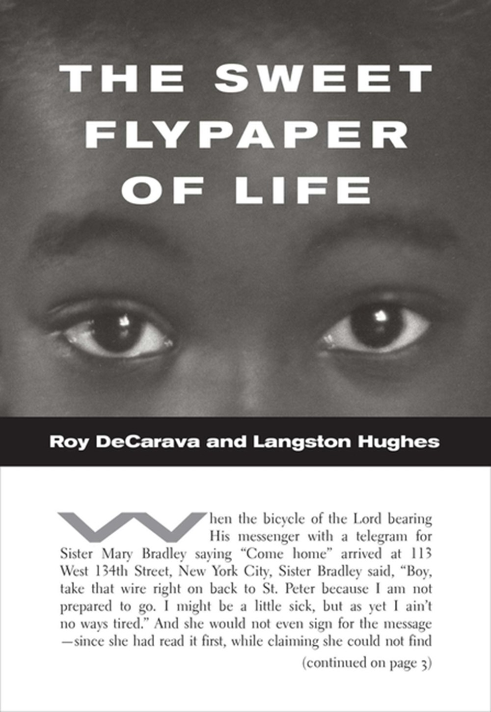 Roy Decarava and Langston Hughes The Sweet Flypaper of Life