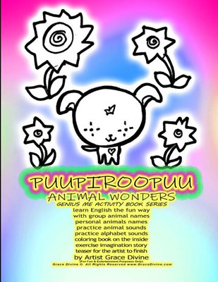 PUUPIROOPUU ANIMAL WONDERS GENIUS ME ACTIVITY BOOK SERIES learn English the fun way with group animal names personal animals names practice animal sou