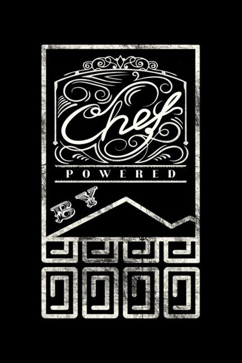 Chef Powered By Blank Paper Sketch Book - Artist Sketch Pad Journal for Sketching, Doodling, Drawing