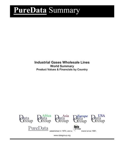 Industrial Gases Wholesale Lines World Summary: Product Values & Financials by Country