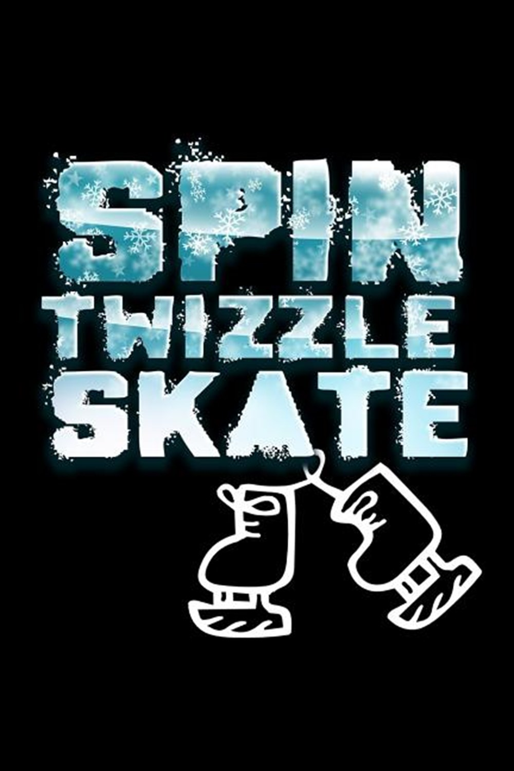 Spin Twizzle Skate Blank Paper Sketch Book - Artist Sketch Pad Journal for Sketching, Doodling, Draw