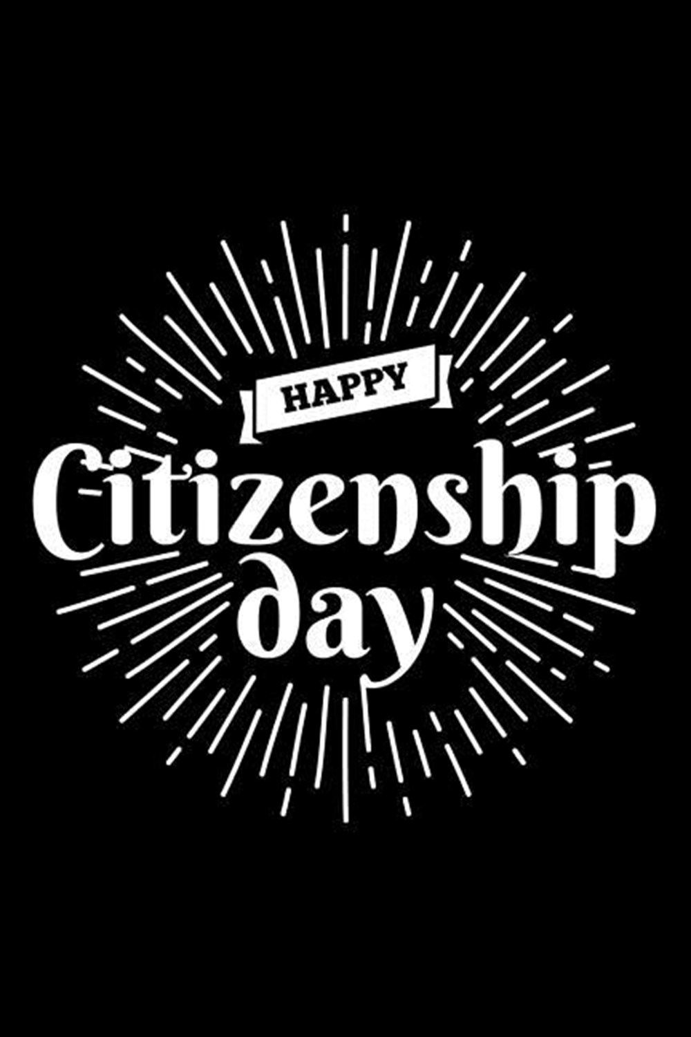 Happy Citizenship Day Blank Paper Sketch Book - Artist Sketch Pad Journal for Sketching, Doodling, D