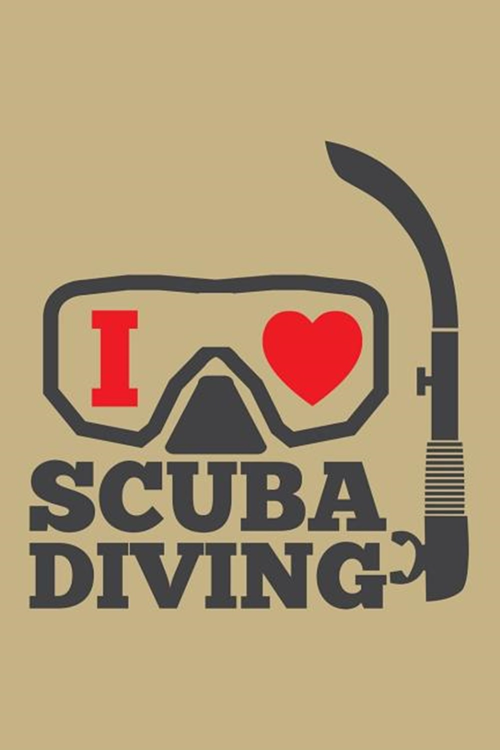 I Love Scuba Diving Blank Paper Sketch Book - Artist Sketch Pad Journal for Sketching, Doodling, Dra