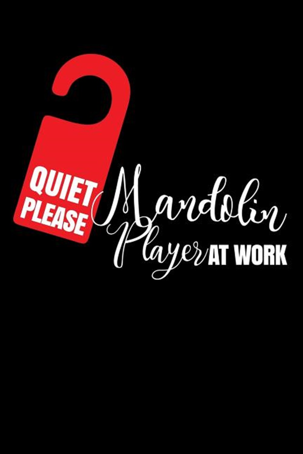Quiet Please Mandolin Player At Work Blank Paper Sketch Book - Artist Sketch Pad Journal for Sketchi