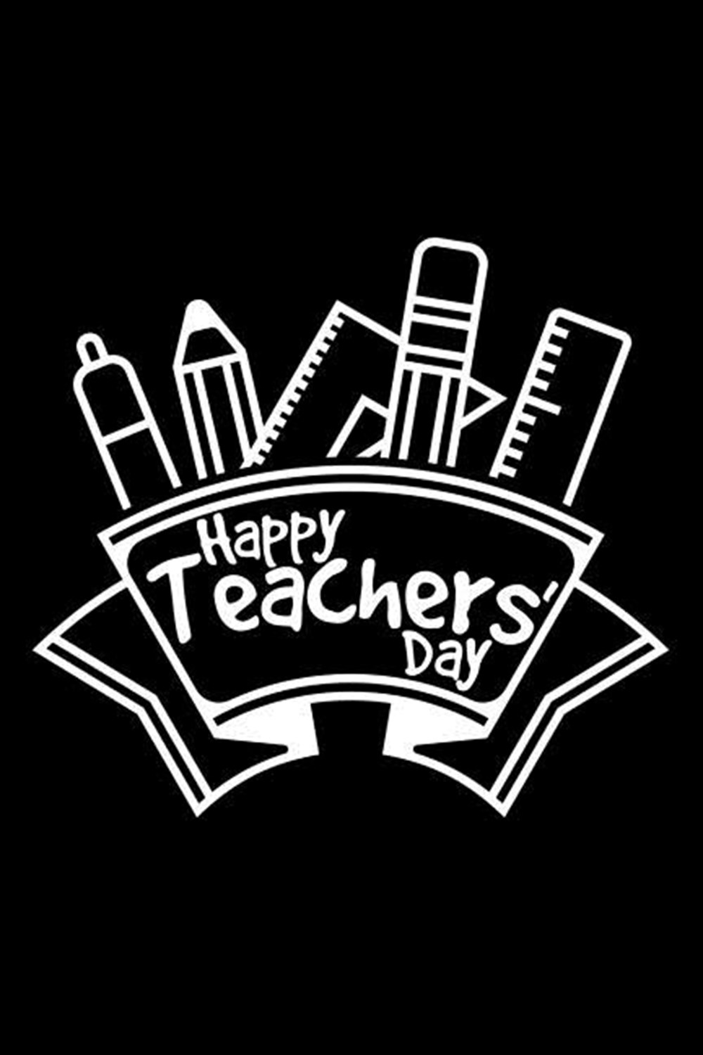 Happy Teachers Day Blank Paper Sketch Book - Artist Sketch Pad Journal for Sketching, Doodling, Draw