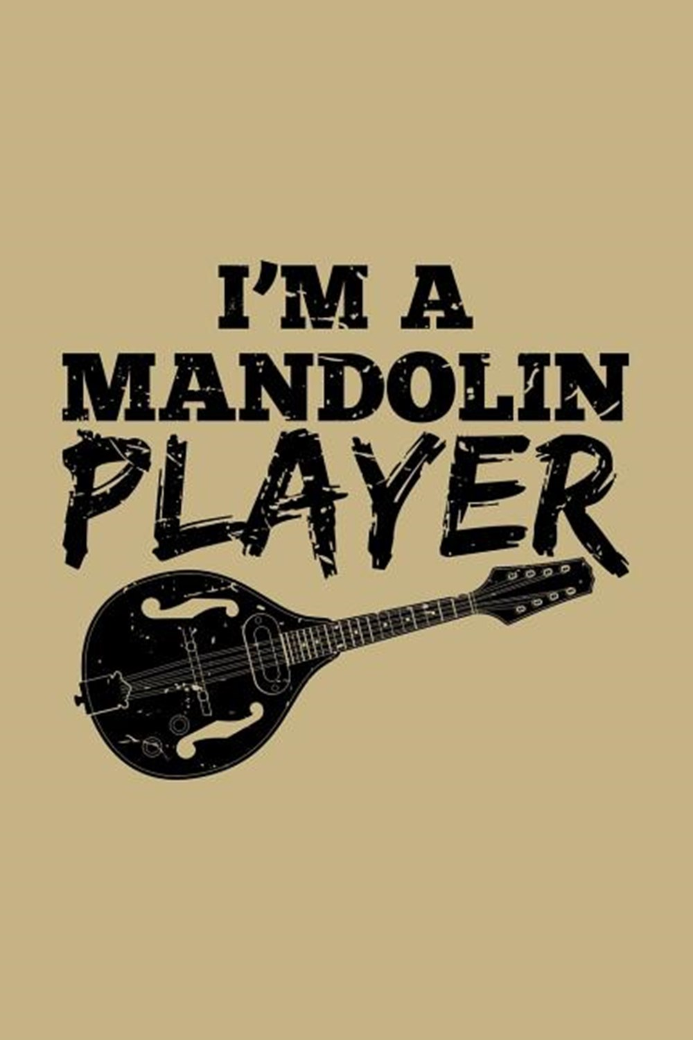 I'm A Mandolin Player Blank Paper Sketch Book - Artist Sketch Pad Journal for Sketching, Doodling, D