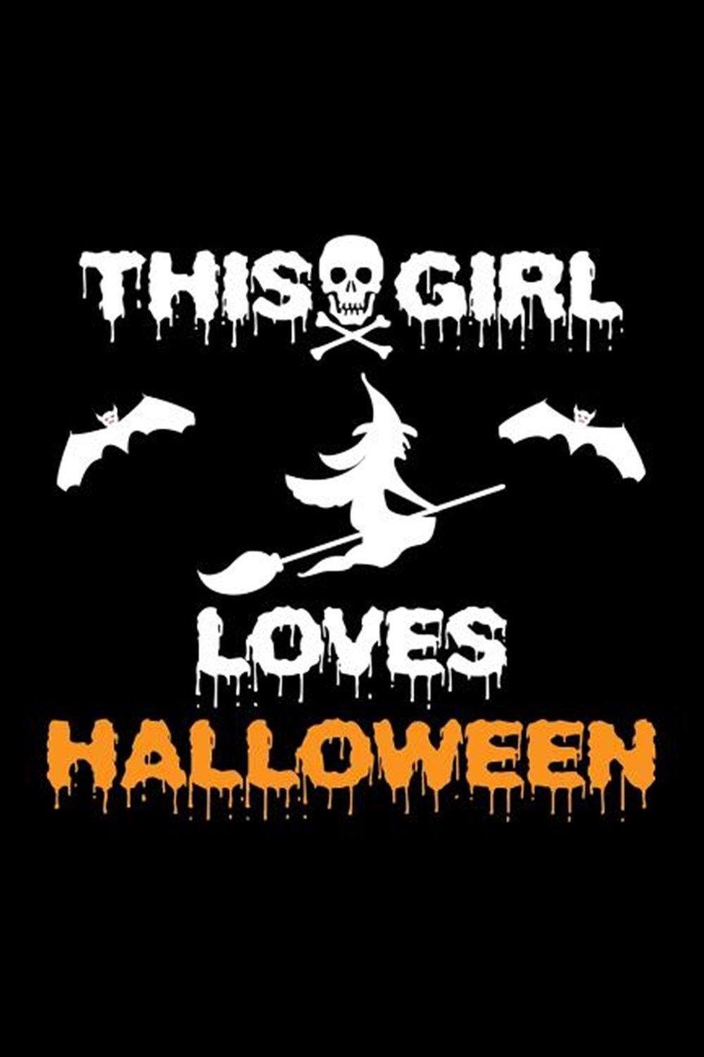 This Girl Loves Halloween Blank Paper Sketch Book - Artist Sketch Pad Journal for Sketching, Doodlin