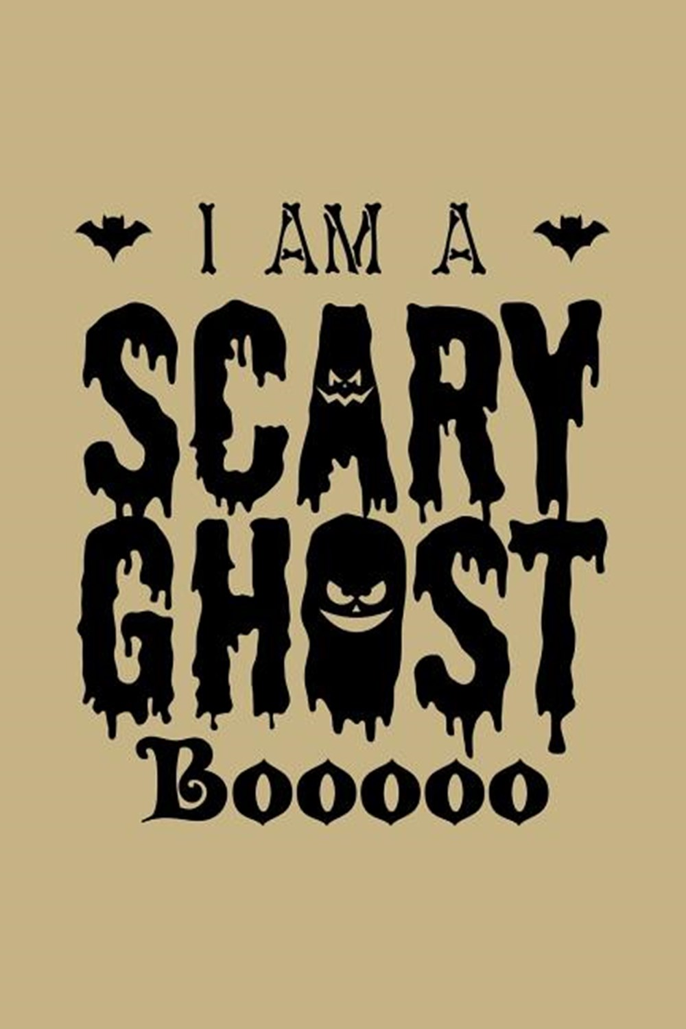 I Am A Scary Ghost Booooo Blank Paper Sketch Book - Artist Sketch Pad Journal for Sketching, Doodlin