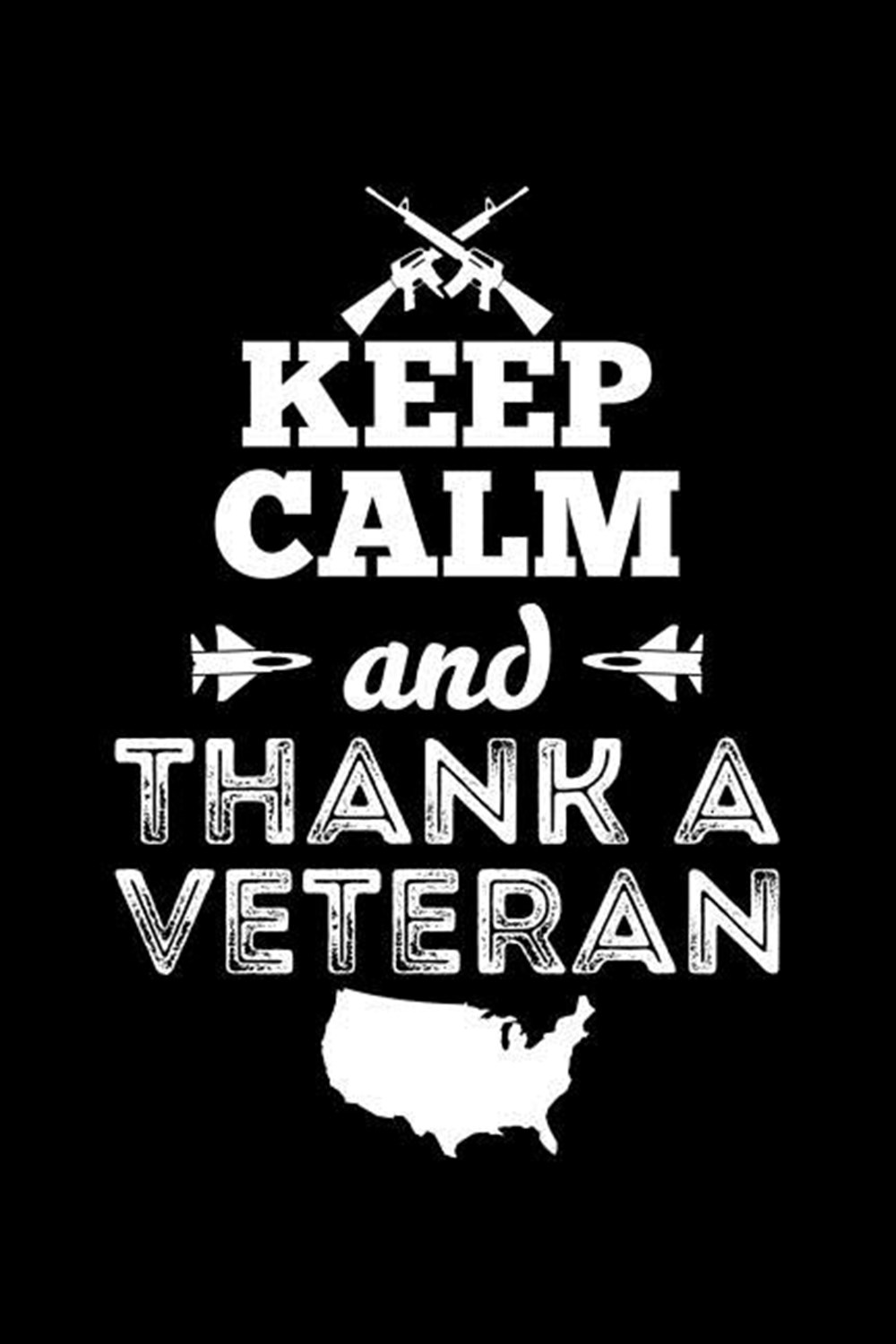 Keep Calm And Thank A Veteran Blank Paper Sketch Book - Artist Sketch Pad Journal for Sketching, Doo