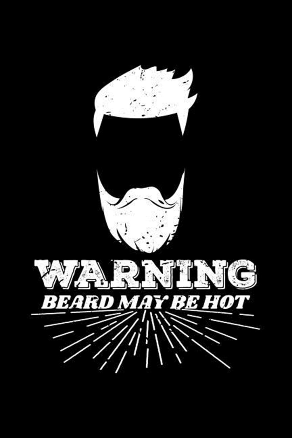 Warning Beard May Be Hot Blank Paper Sketch Book - Artist Sketch Pad Journal for Sketching, Doodling