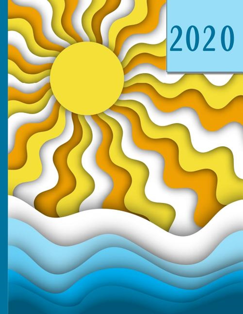 Fun in the Sun Paper Cutout - Boats on the Water 2020 Schedule Planner and Organizer / Weekly Calend