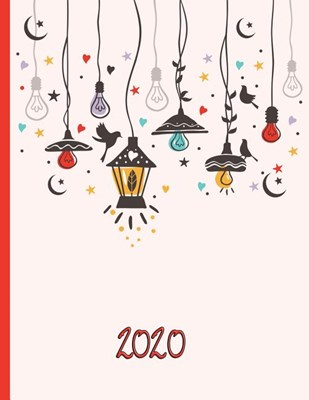 Hanging Garden Lights in the Sky with Stars, Moon, and Hearts: 2020 Schedule Planner and Organizer / Weekly Calendar