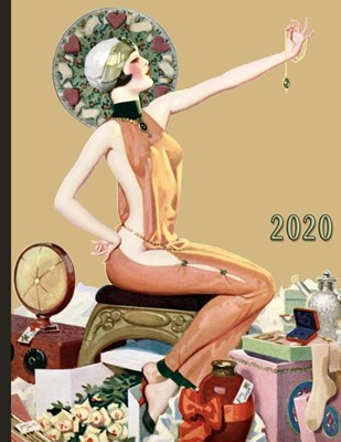 Vintage Pinup Girl with Flowers Jewelry and Gifts: 2020 Schedule Planner and Organizer / Weekly Calendar
