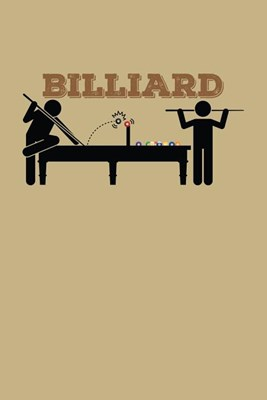 Billiard: Blank Paper Sketch Book - Artist Sketch Pad Journal for Sketching, Doodling, Drawing, Painting or Writing