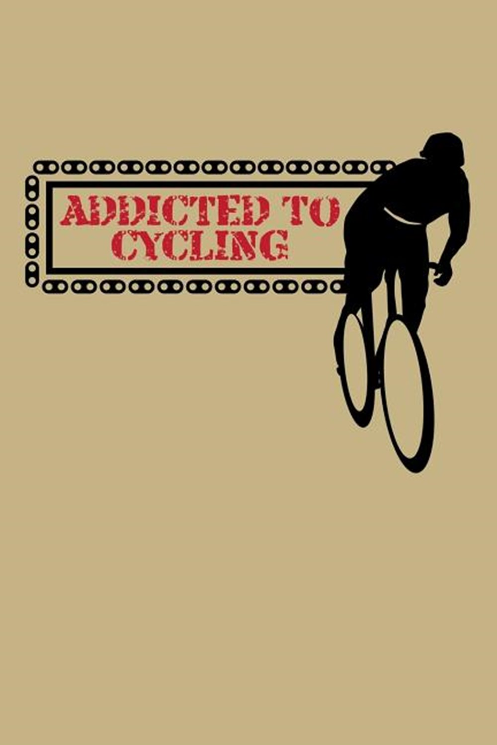 Addicted To Cycling Blank Paper Sketch Book - Artist Sketch Pad Journal for Sketching, Doodling, Dra