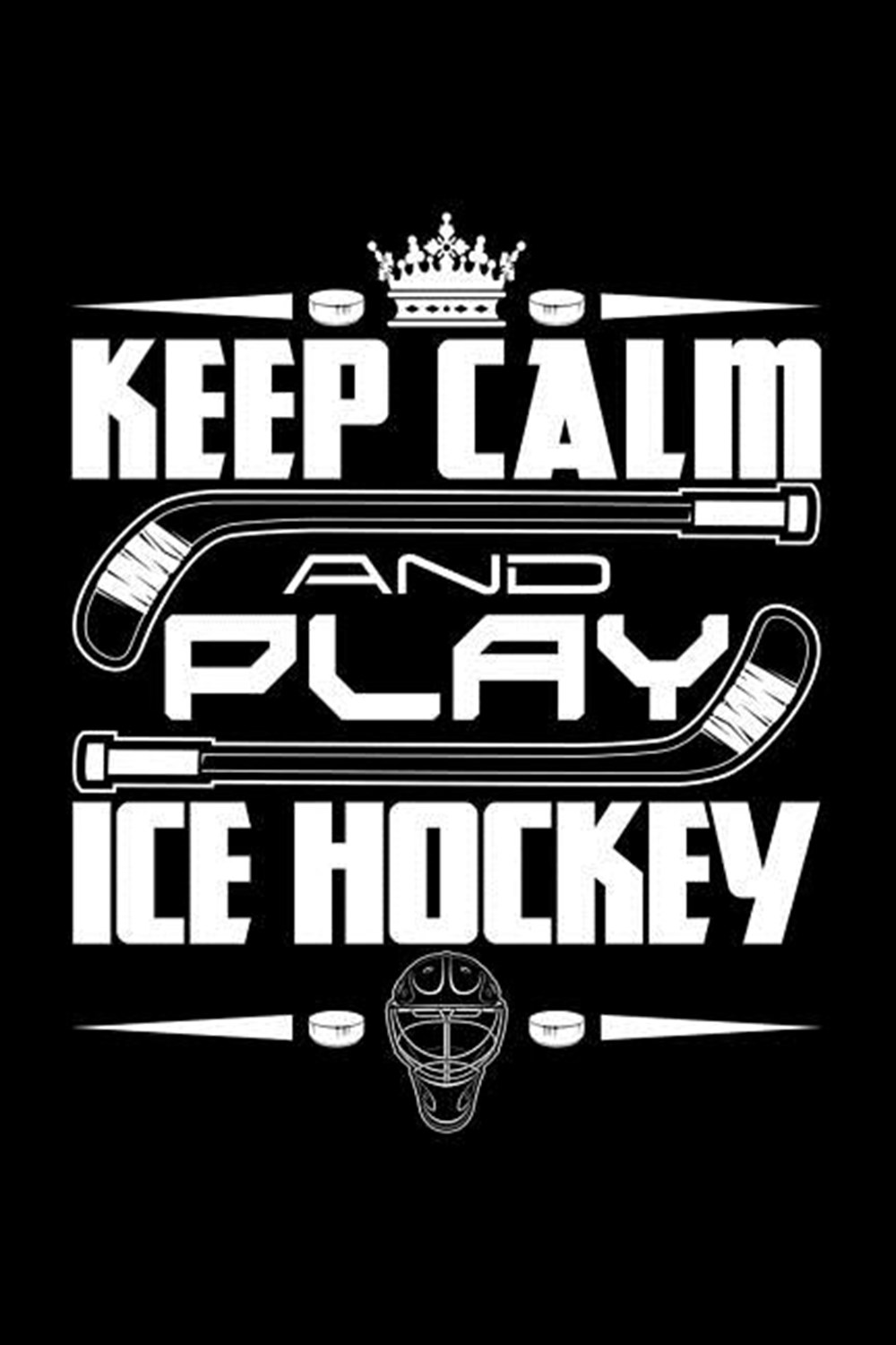 Keep Calm And Play Ice Hockey Blank Paper Sketch Book - Artist Sketch Pad Journal for Sketching, Doo