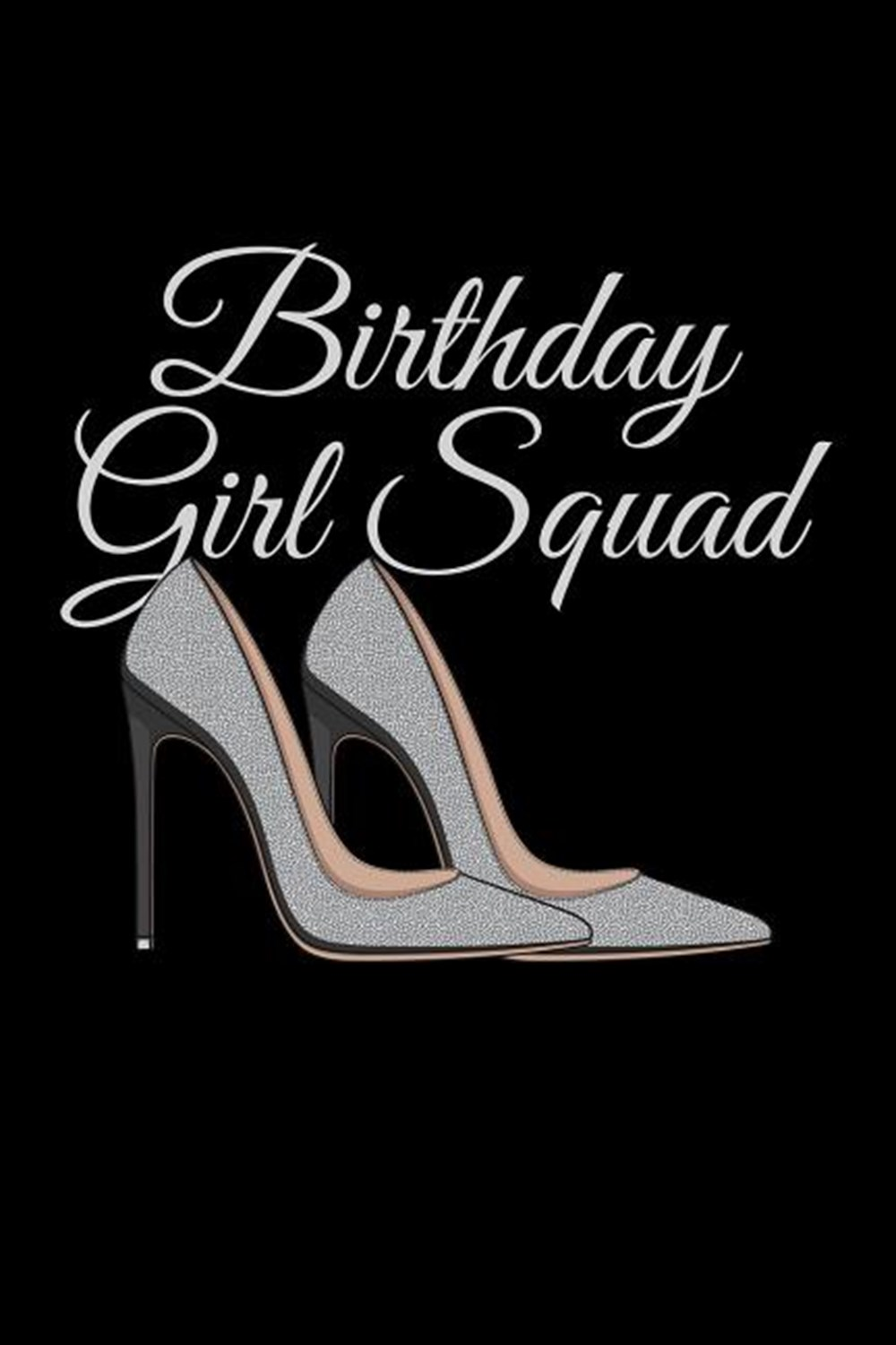 Birthday Girl Squad Blank Paper Sketch Book - Artist Sketch Pad Journal for Sketching, Doodling, Dra