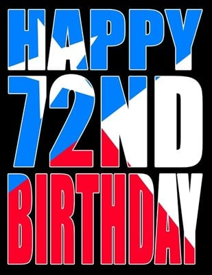 Happy 72nd Birthday: Texas Flag Themed Large Print Address Book for Seniors. Forget the Birthday Card and Get a Birthday Book Instead!