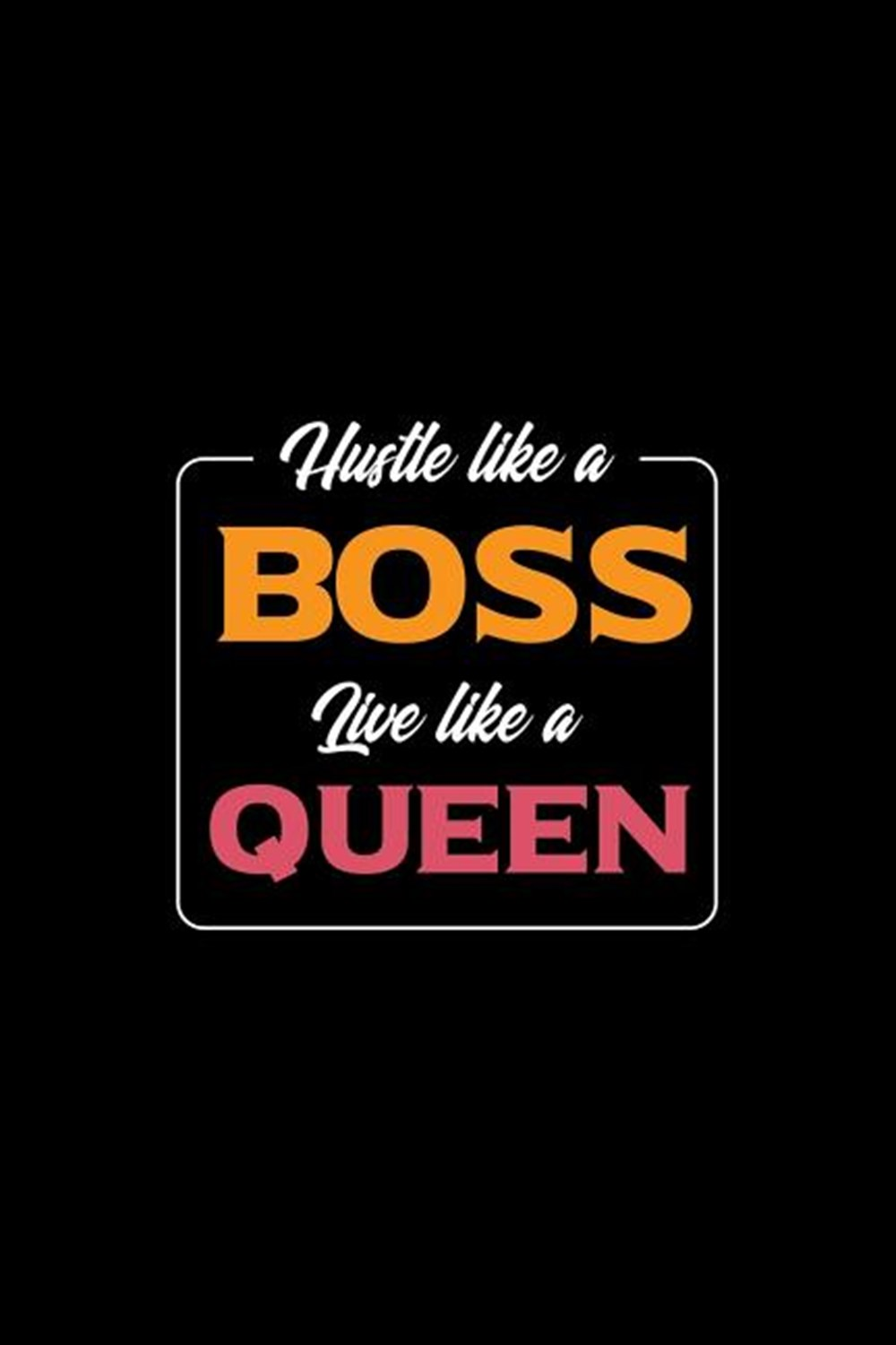 Hustle Like A Boss Live Like A Queen Blank Paper Sketch Book - Artist Sketch Pad Journal for Sketchi