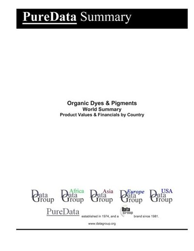 Organic Dyes & Pigments World Summary: Product Values & Financials by Country