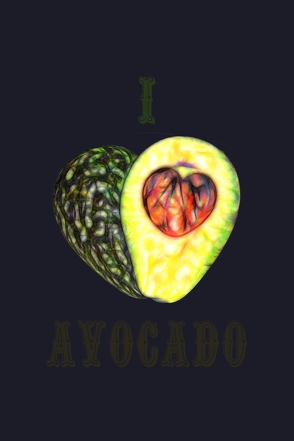 I Love Avocado Blank Cookbook Journal to Write in Recipes and Notes to Create Your Own Family Favori