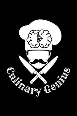 Culinary Genius: Blank Cookbook Journal to Write in Recipes and Notes to Create Your Own Family Favorite Collected Culinary Recipes and