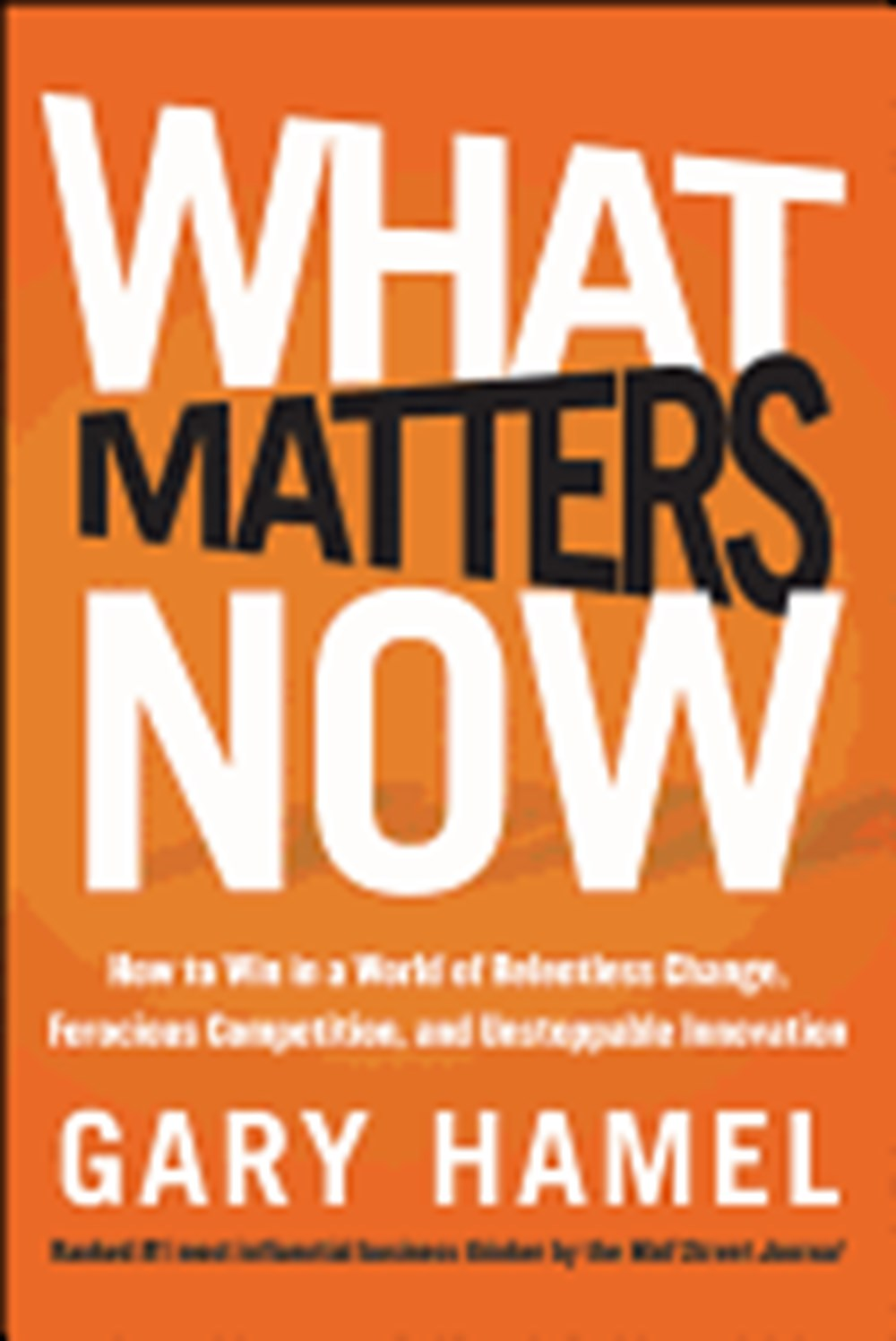 What Matters Now How to Win in a World of Relentless Change, Ferocious Competition, and Unstoppable