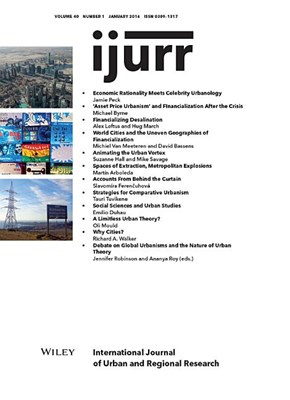 International Journal of Urban and Regional Research, Volume 40, Issue 1