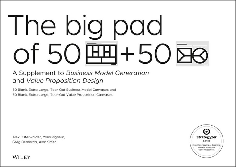 Big Pad of 50 Blank, Extra-Large Business Model Canvases and 50 Blank, Extra-Large Value Proposition
