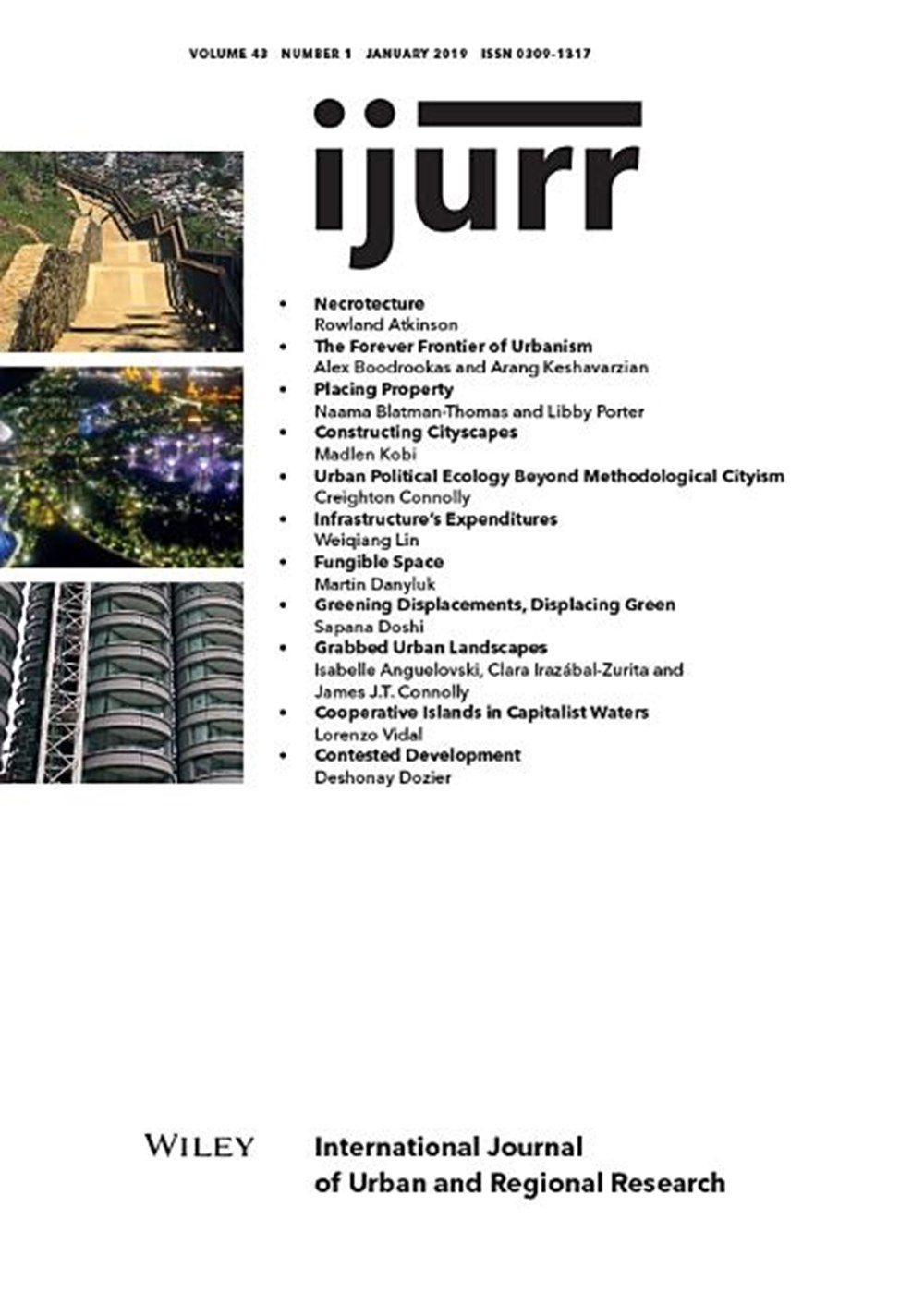 International Journal of Urban and Regional Research, Volume 43, Issue 1