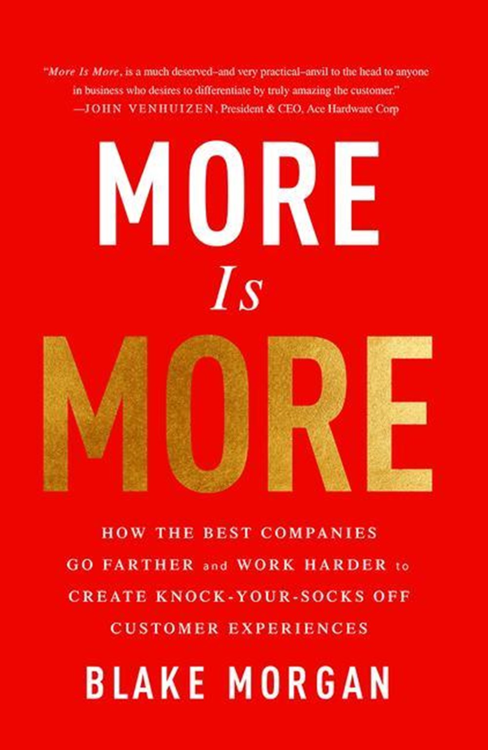 More Is More How the Best Companies Go Farther and Work Harder to Create Knock-Your-Socks-Off Custom