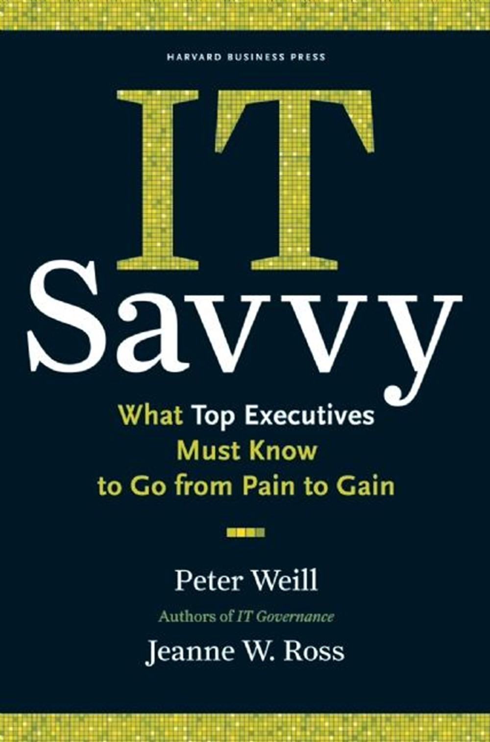 It Savvy What Top Executives Must Know to Go from Pain to Gain
