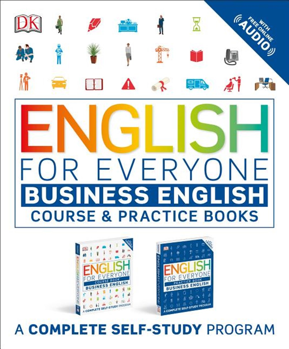English for Everyone Slipcase Business English Box Set: Course and Practice Books a Complete Self-St
