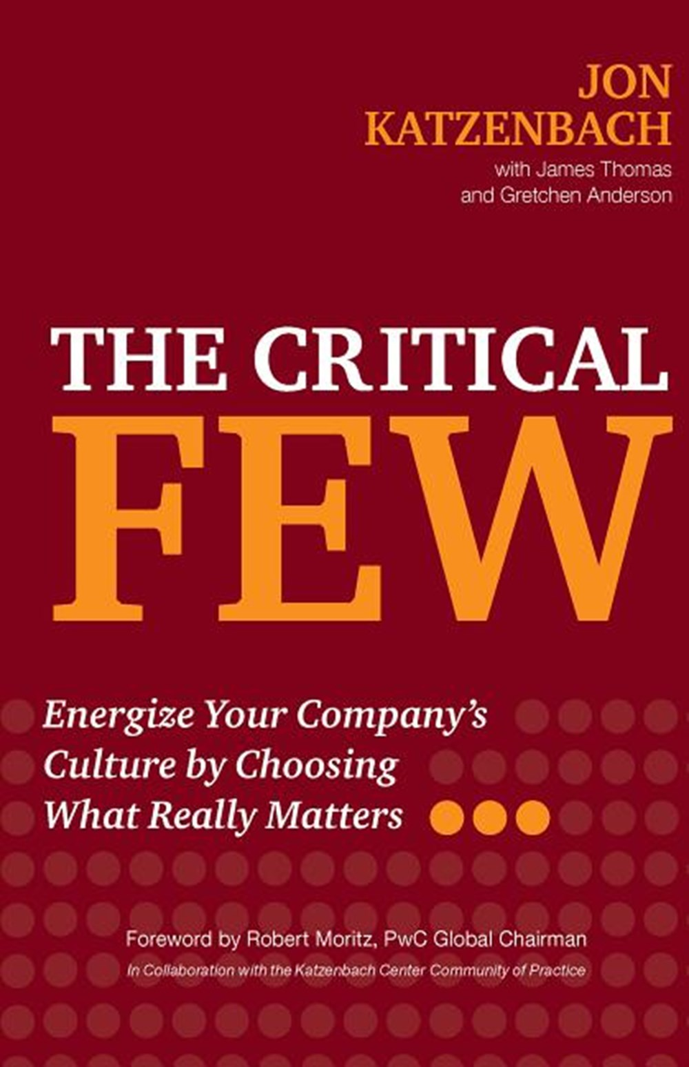 Critical Few Energize Your Company's Culture by Choosing What Really Matters