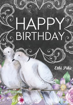 Ethi Pike - Happy Birthday Doves Journal