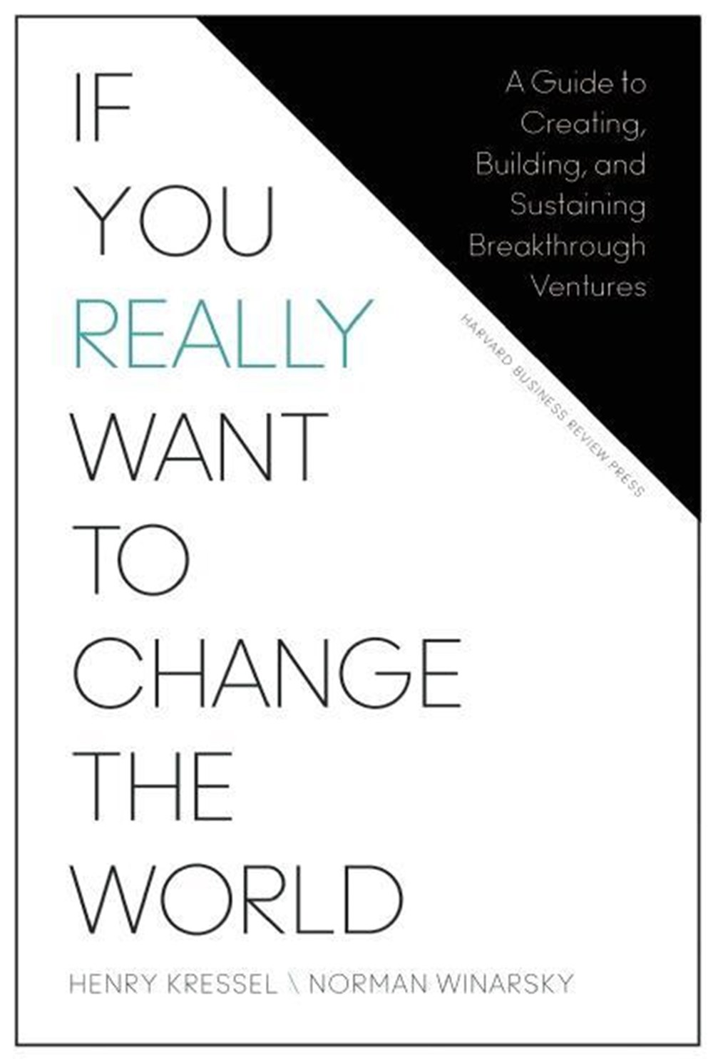If You Really Want to Change the World: A Guide to Creating, Building, and Sustaining Breakthrough V