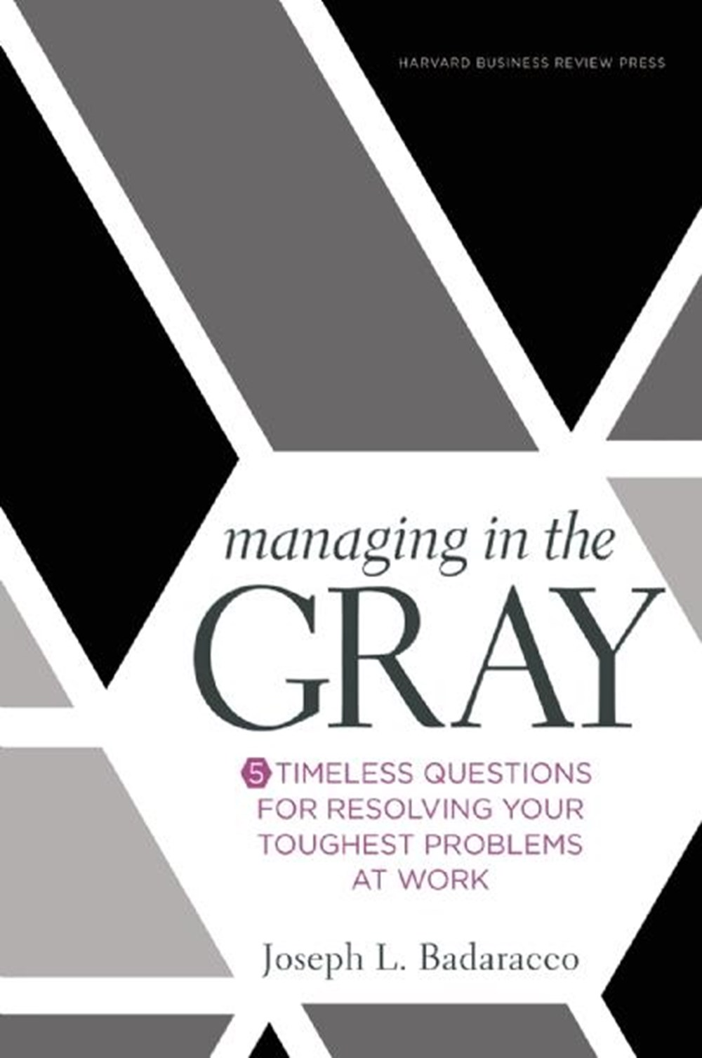 Managing in the Gray Five Timeless Questions for Resolving Your Toughest Problems at Work