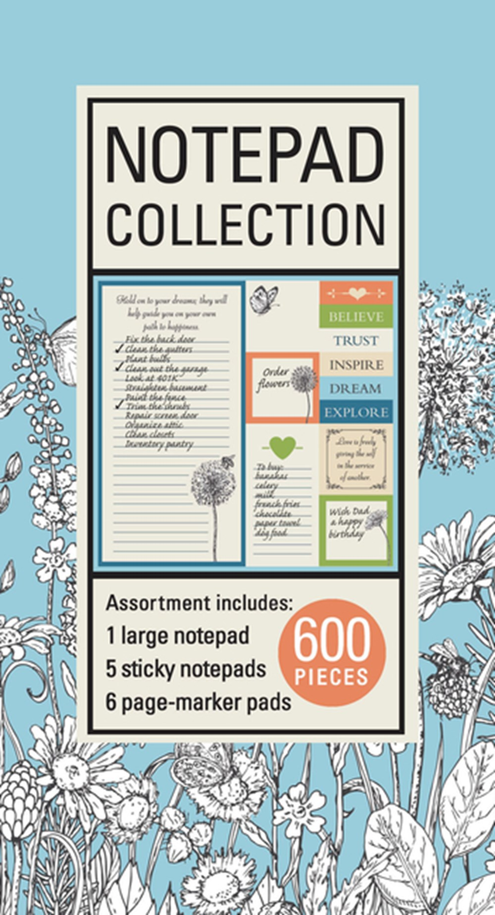 Book of Sticky Notes Notepad Collection (Bohemian)