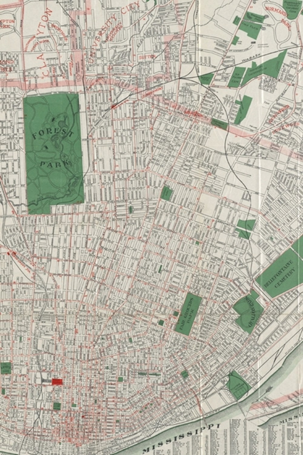 ca. 1921 Map of Saint Louis - A Poetose Notebook / Journal / Diary (50 pages/25 sheets)