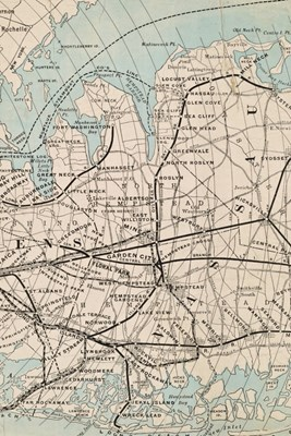Rapid Transit Map of Kings, Queens, and Nassau Counties, Long Island - A Poetose Notebook / Journal / Diary (50 pages/25 sheets)