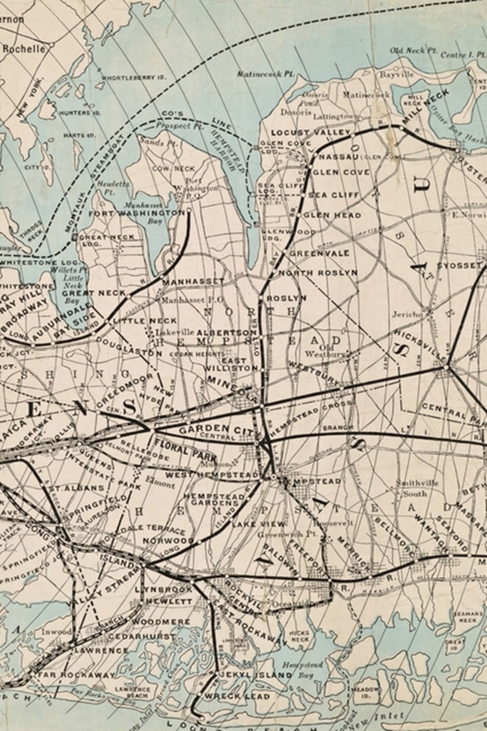 Rapid Transit Map of Kings, Queens, and Nassau Counties, Long Island - A Poetose Notebook / Journal