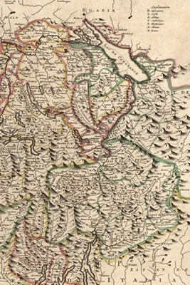 1721 Map of Switzerland - A Poetose Notebook / Journal / Diary (50 pages/25 sheets)